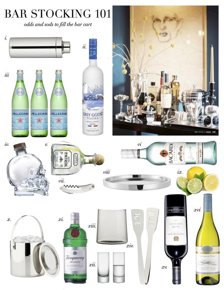 """Stocking the Bar Cart 101 www.LiquorList.com """"The Marketplace for Adults with Taste!"""" @LiquorListcom   #LiquorList.com"""