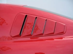 Mustang Painted Quarter Window Louvers at Partscheap.com