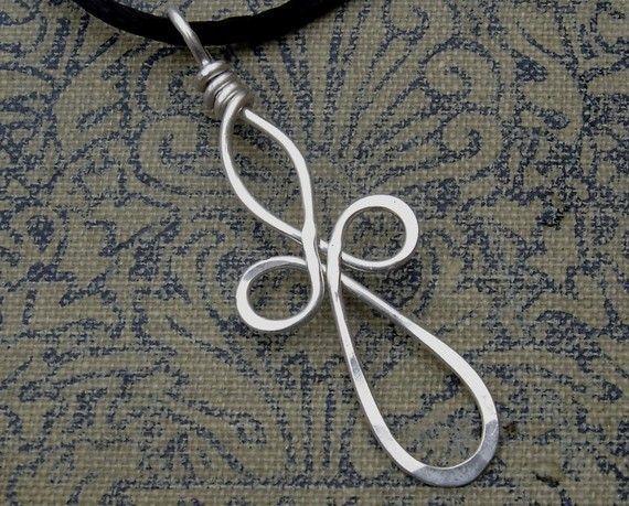 cross diy wire pendant