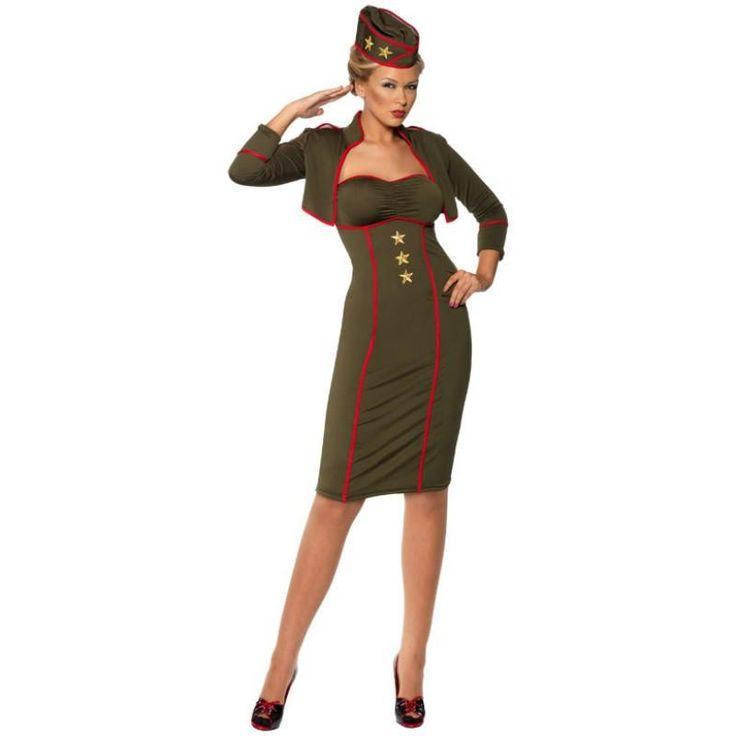 Retro Army Girl Adult Costume $59.99 AT vintagedancer.com