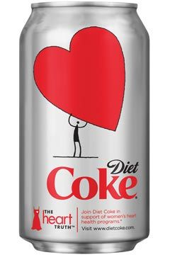 Heart Health & Diet Coke! Two of our favorite things at Alpha Phi's Executive Office.