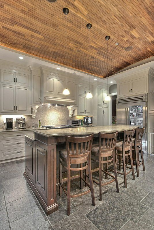 Custom Made Custom Kitchen Lincoln Park: Custom Kitchens, Cabinets Colors, Kitchens Design, Hardwood Floors, Lincoln Parks, Kitchens Ideas, Custom Furniture, Wood Ceilings, White Kitchens