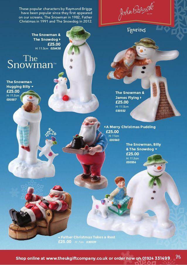Beswick Snowmen The Snowman Holding  the Snowdog