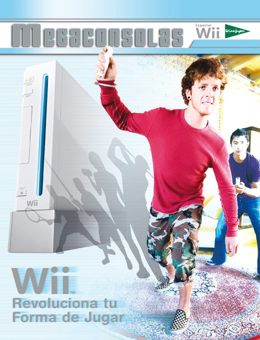 Portada Revista Megaconsolas.  Número especial Consola Wii, de Nintendo