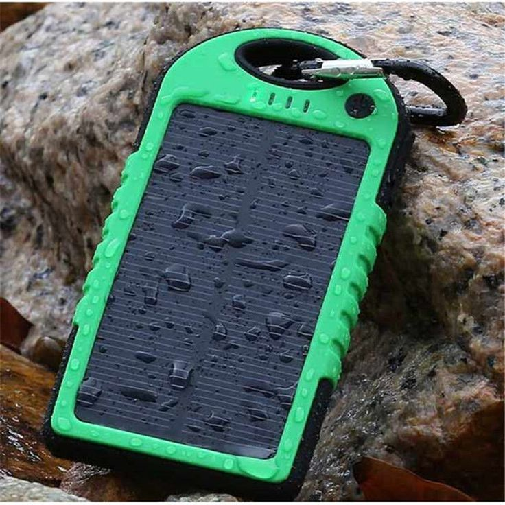 5000mAh Portable Waterproof Solar Power Bank Charger Dual USB External Output #UnbrandedGeneric