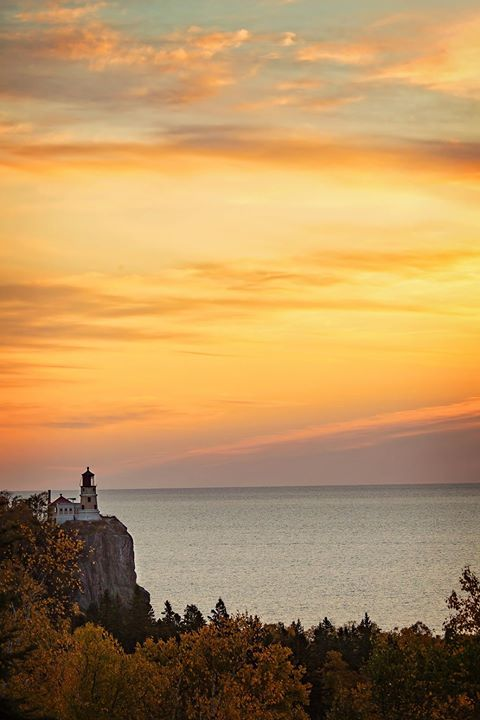 Sunrise over Split Rock Lighthouse Minnesota. - http://ift.tt/1HQJd81