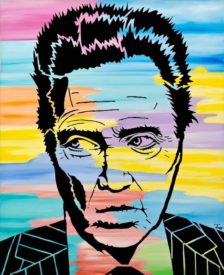 Original #art from @tderrickbarnes. A #PopNeoism interpretation of Christopher Walken. Want to own some of Tripp's work? We can help make that happen. #WynwoodLab #ChristopherWalken http://wynwoodlab.com/artists/