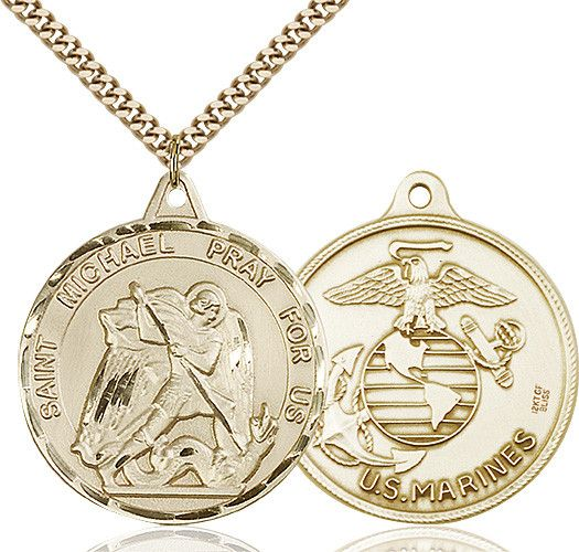 The 25 best st michael pendant ideas on pinterest st michael st michael pendant 14 karat gold filled us marines mozeypictures Choice Image