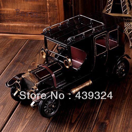 Бесплатная доставка Старый старинных автомобилей ручной украшения ретро олова игрушки. металлические автомобили / детские игрушки / подарки 27.90