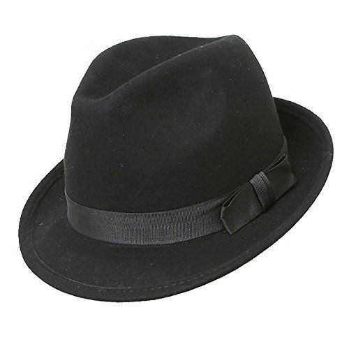 100 kr. Quality Black Felt Trilby Hat, Available In Four Sizes, BNWT (58cm) Top Brand http://www.amazon.co.uk/dp/B004046KVU/ref=cm_sw_r_pi_dp_JJh3wb1RA4CR9