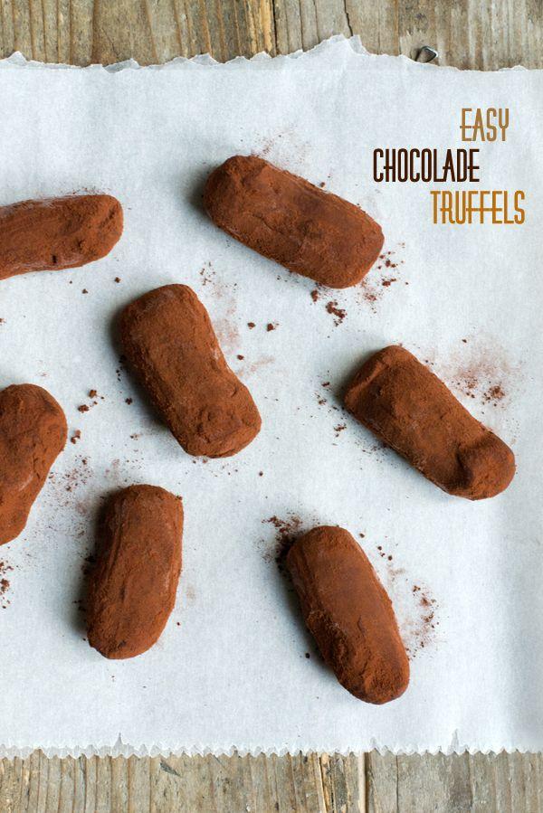 Zelf chocolade teugels maken. Recept. Pssst je kunt ze invriezen! Easy chocolade truffels