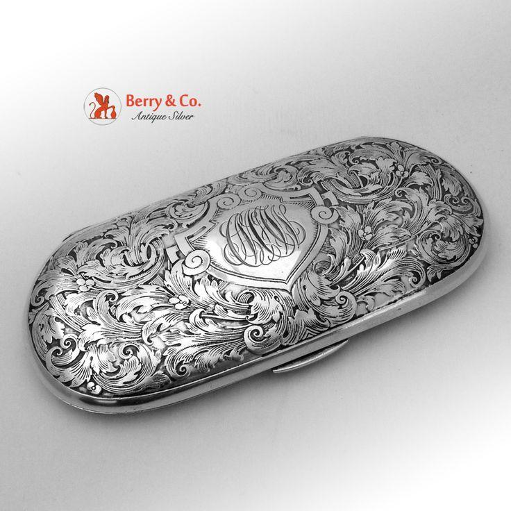 Art Nouveau Spectacle Case Sterling Silver William Kerr 1900