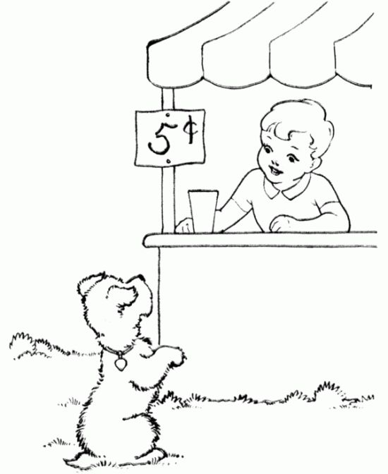 lemonade stand summer coloring pages