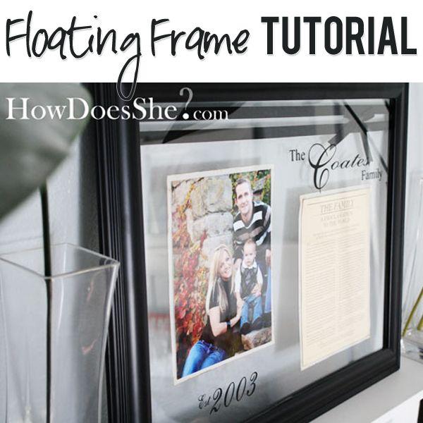 Floating Frame Tutorial | Floating frame, Diy frame and Classy
