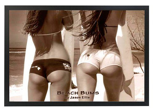 Beach Bums by Jason Ellis Framed Poster Print 36x24 on a Black Wood Frame Made in USA ** Click image for more details.Note:It is affiliate link to Amazon.