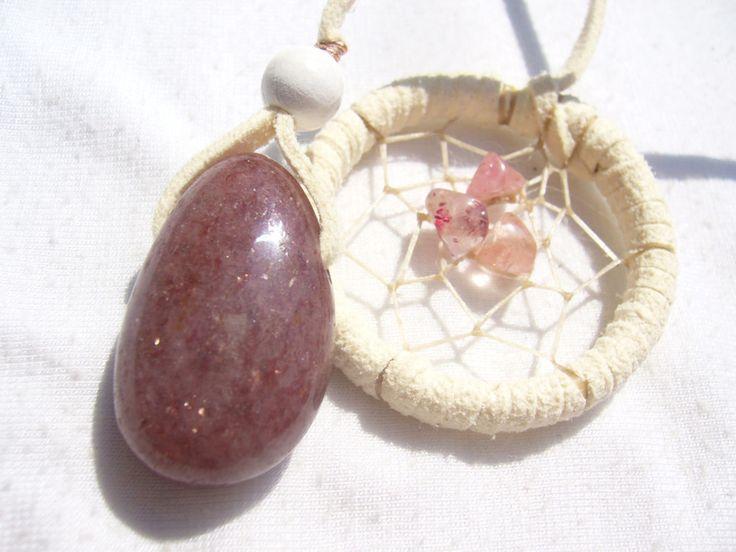 Einschulungsgeschenk- Lesezeichen mit Erdbeerquarz von Traumnetz.com  - Kraft der Steine   Besondere Geschenke auf DaWanda.com