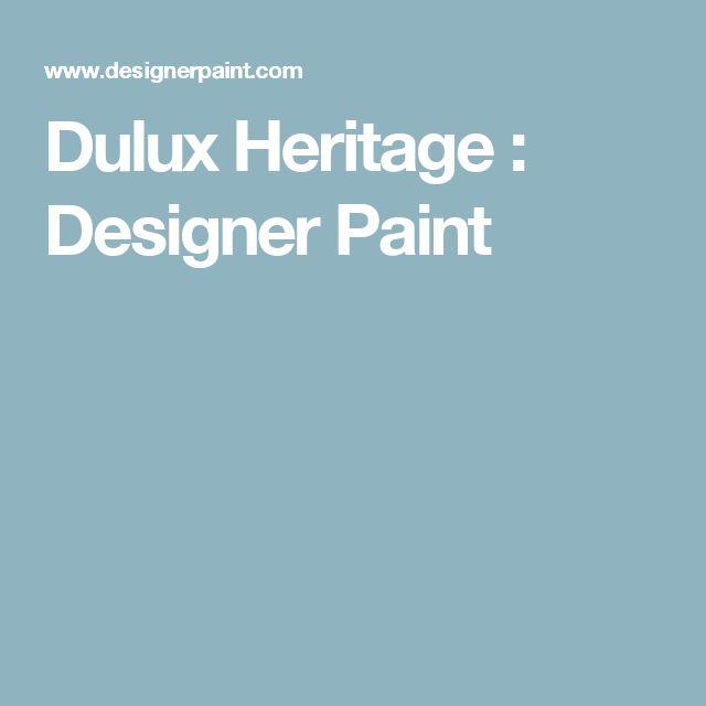 Dulux Heritage : Designer Paint