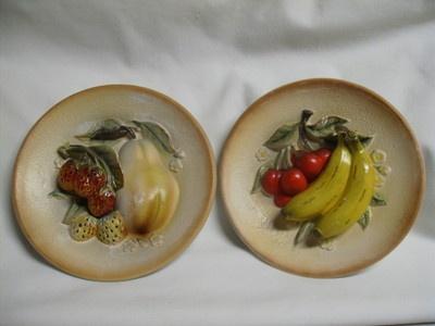 2 Vintage Napcoware Kitchen Kitsch Fruit Plate Wal //r.ebay. & 156 best Decorative plates images on Pinterest | Decorative plates ...