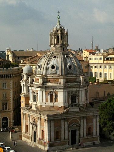 Eglise Santa Maria di Loreto, 1507-1576, Bramante, Antonio da Sangallo, Jacopo del Duca, Rome.