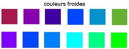 Couleurs froides   Cercle chromatique   Pinterest   Album