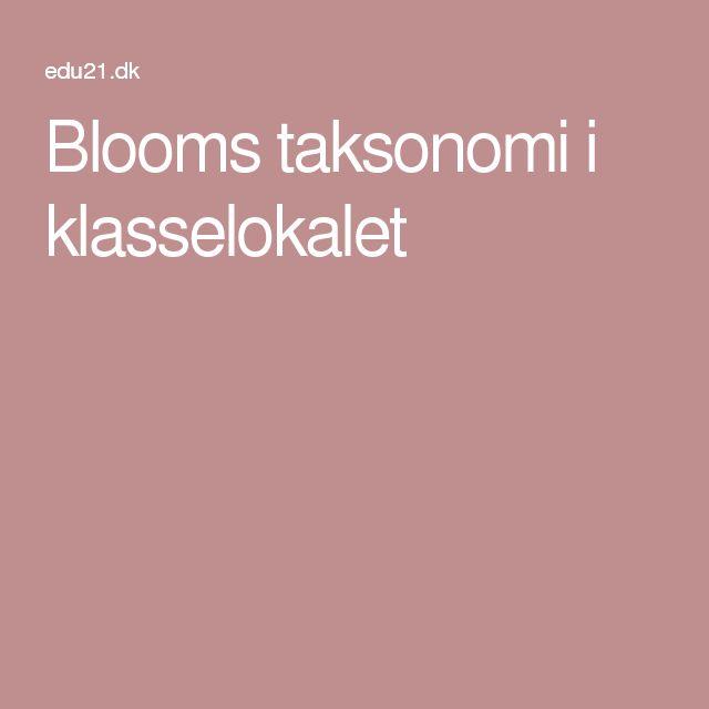 Blooms taksonomi i klasselokalet