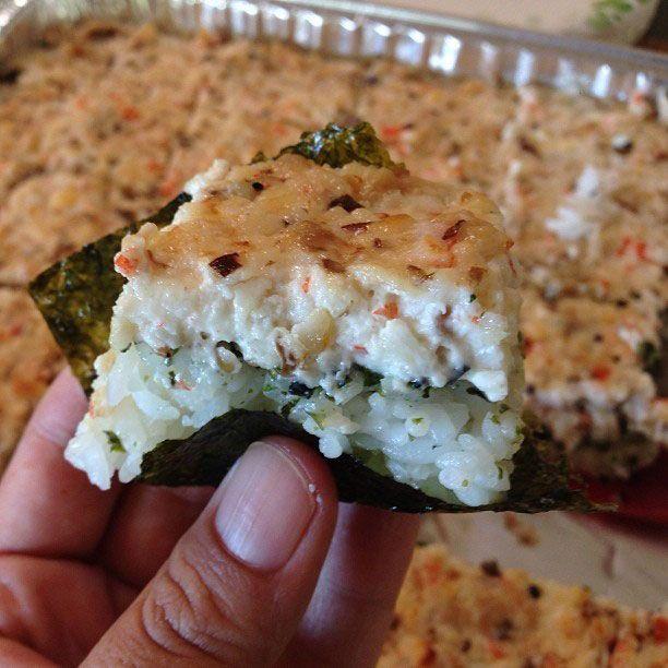 "Recipe: Crab & Shiitake Mushroom Sushi ""Casserole"" | The Tasty Island"