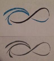 mother. daughter. infinity. ocean wave. tattoo.