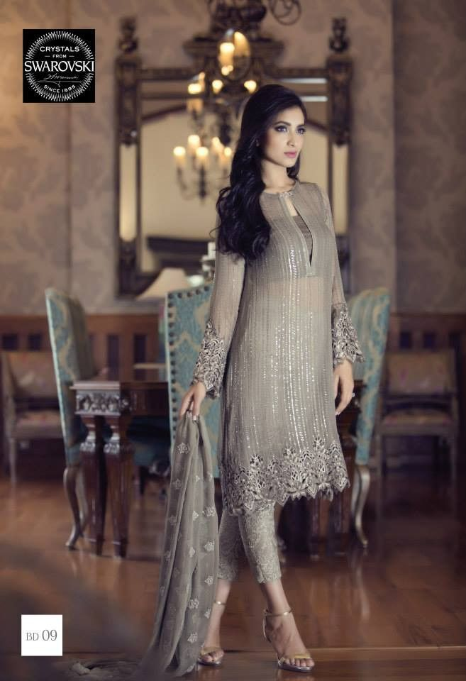 e26dd2d179 Maria B Mbroidered Eid BD09 | attire♡ | Pakistani dresses, Dresses, Fashion