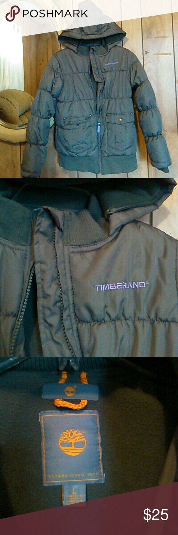 Boys/girls Timberland hooded puffer coat Super soft material.new condition.Size large Timberland Jackets & Coats Puffers