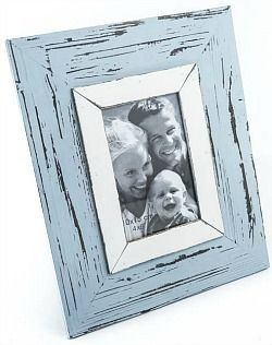 Choice of blue or white 'distressed' photo frame $15 @ www.graceandlace.com.au