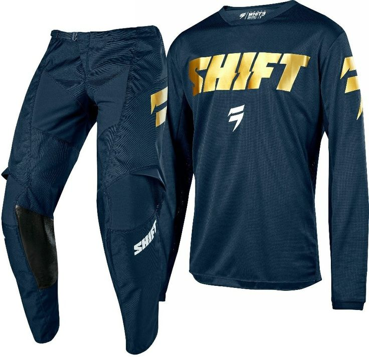 2018 Shift WHIT3 Label Special Edition Motocross Gear NAVY GOLD
