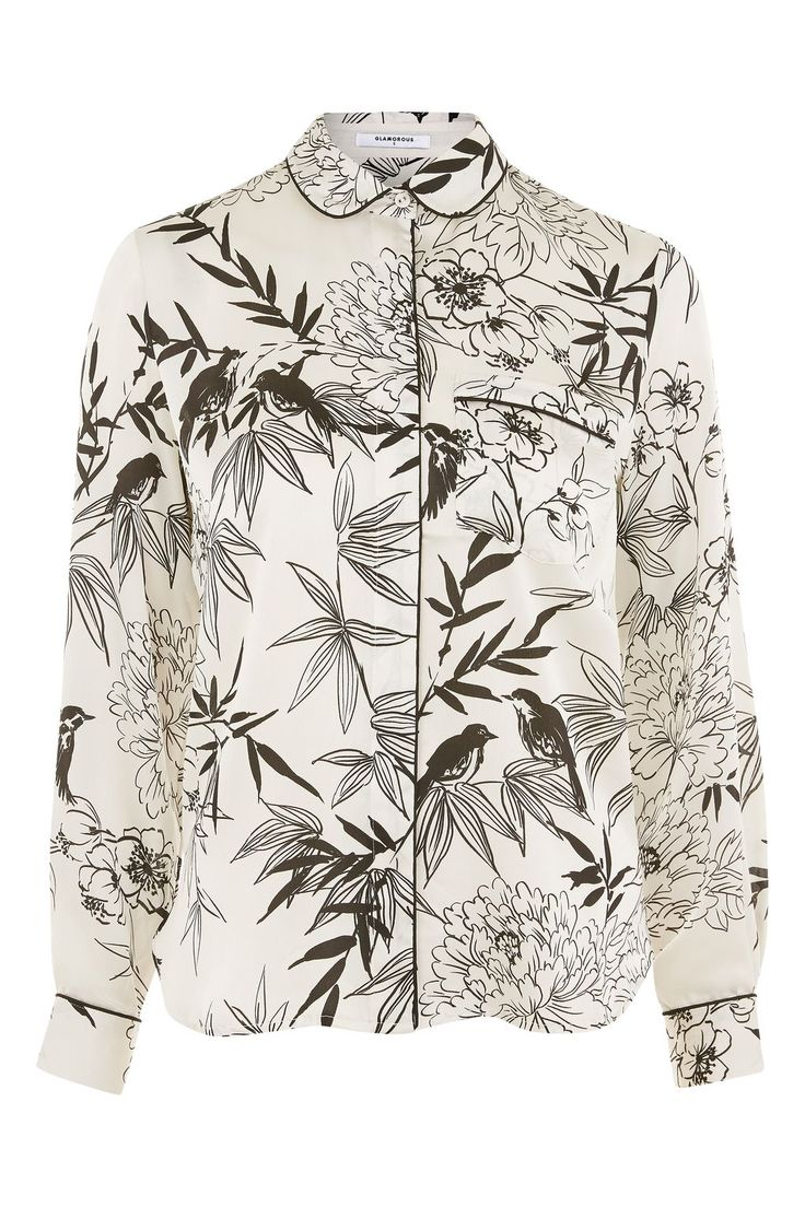**Floral Printed Blouse by Glamorous - Topshop
