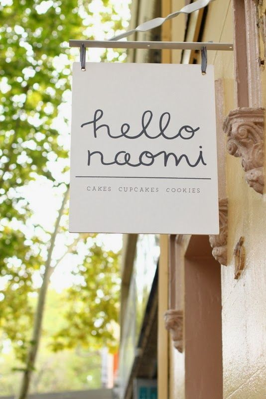 hello naomi's new shop sign! Her cute little shop opened at the beginning of this year (2014)!