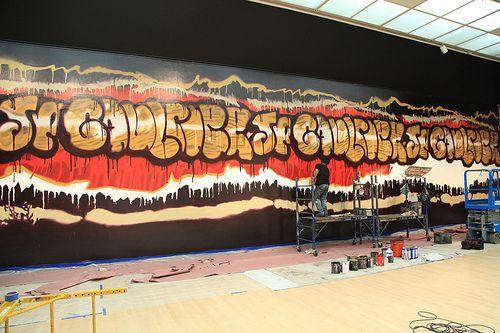 Installing Jean Paul Gaultier - graffiti
