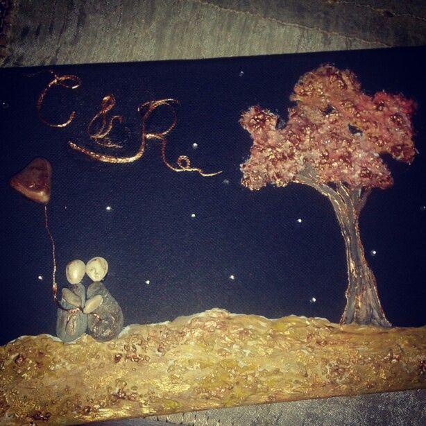 Wishbook wedding gift, stones couple tree of life..