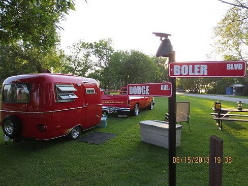 You can pile a lot of crap into a Boler. The camper-trailers were invented in 1968 by Winnipegger Ray Olecko, based on the fibreglass septic tank he had patented the previous year