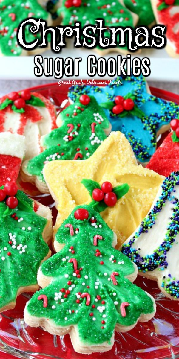 Christmas Sugar Cookies in 2020 | Christmas sugar cookies, Cookies
