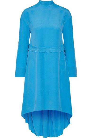 Cédric Charlier - Crepe De Chine Dress - Bright blue - IT