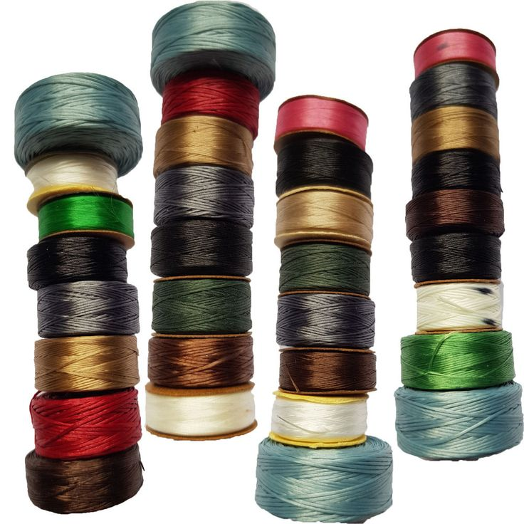 8 Pack Nymo Beading Thread Bobbins Nylon Bead Cord Stringing Thread Assorted