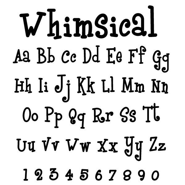 Whimsical Letter Font | Letters Galore - Paint Colors and Font Selections for Wood Letters ...