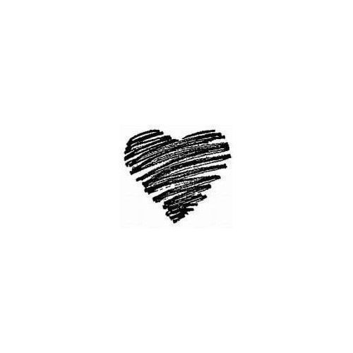 Small heart tattoo. i don't like it in black so i would love to have it in red