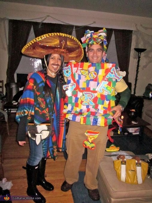 Mexican and Pinata costumes2012 Halloween, Costumes Contest, Halloween Costumes, Costumes Halloween, Homemade Costumes, Pinata Costumes, Pinata Halloween, Couples Costumes, Costumes Ideas