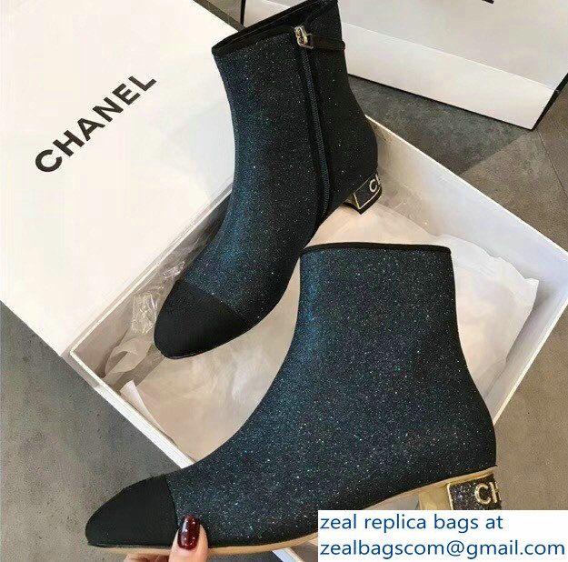Chanel Short Boots G33840 Grosgrain