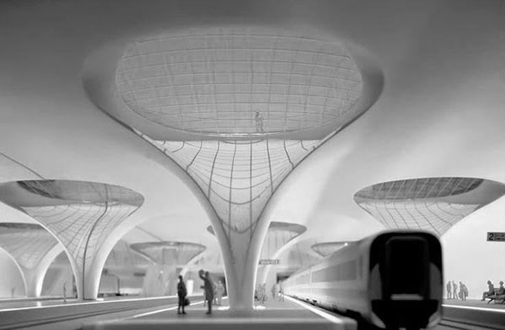 Fluid parametric architecture interior Precedent:| Frei Otto: Stuttgart 21 Trainstation (unbuilt) Simulation Methods Christopher Esper | Weishun Xu M. Arch Candidates '15 Harvard University | Graduate School of Design Parametric Semiolo...