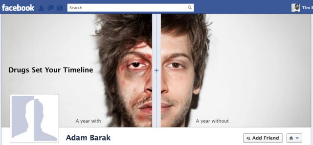 Great idea from McCann Digital on using the Facebook timeline.