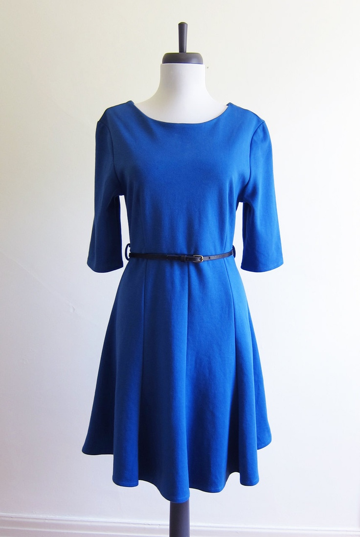 Vintage 1990s Dress / BRIGHT BLUE  via Etsy.