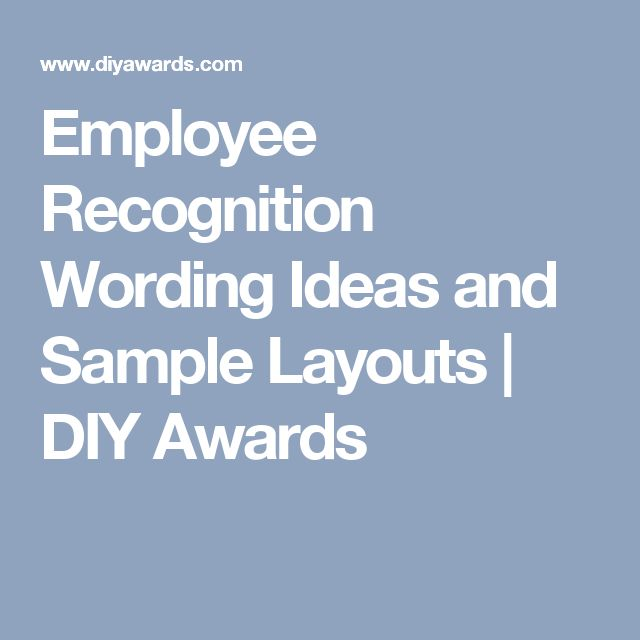 employee recognition wording ideas and sample layouts