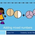 This Power Point is made to go along with the EnVision Math series for 5th Grade Math. (Topic 10 Lesson 5- Adding Mixed Numbers).  I include transi...