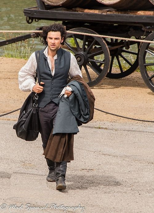 Aidan Turner as Ross Poldark (new, still in production?). I loved Robin Ellis in the original. Also Angharad Rees who played his wife Demelza (who sadly died recently. RIP)