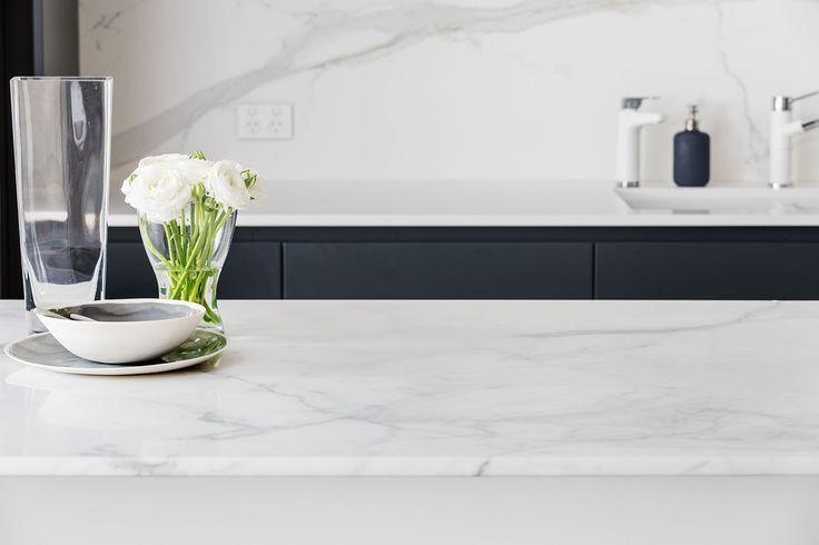 Claremont - Kitchen, Bathroom & Laundry - Renovation by Retreat Design #statuariovenato #arrital #marble #cabinetry #islandbench #kitchen #kitchendesign #renovation #modern